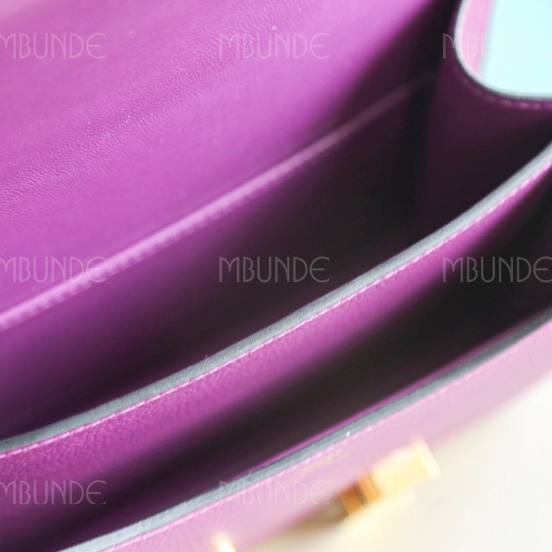 Hermes Constance 19CM P9海葵紫 金扣 Evercolor 今年最大黑马,每个款都有海葵紫的身影