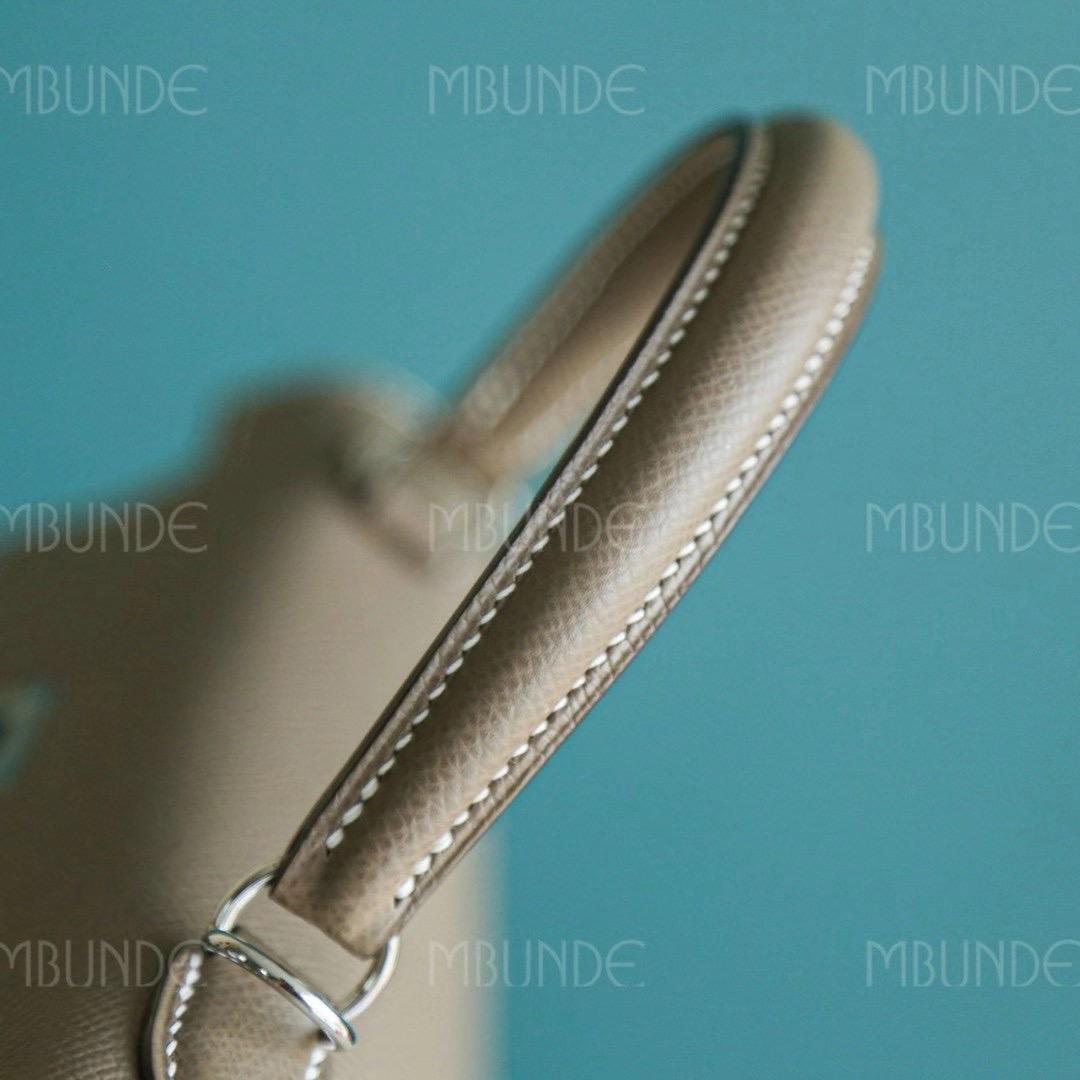 Hermes 爱马仕 Kelly 凯莉包 25CM Epsom皮 大象灰 银扣 全手工