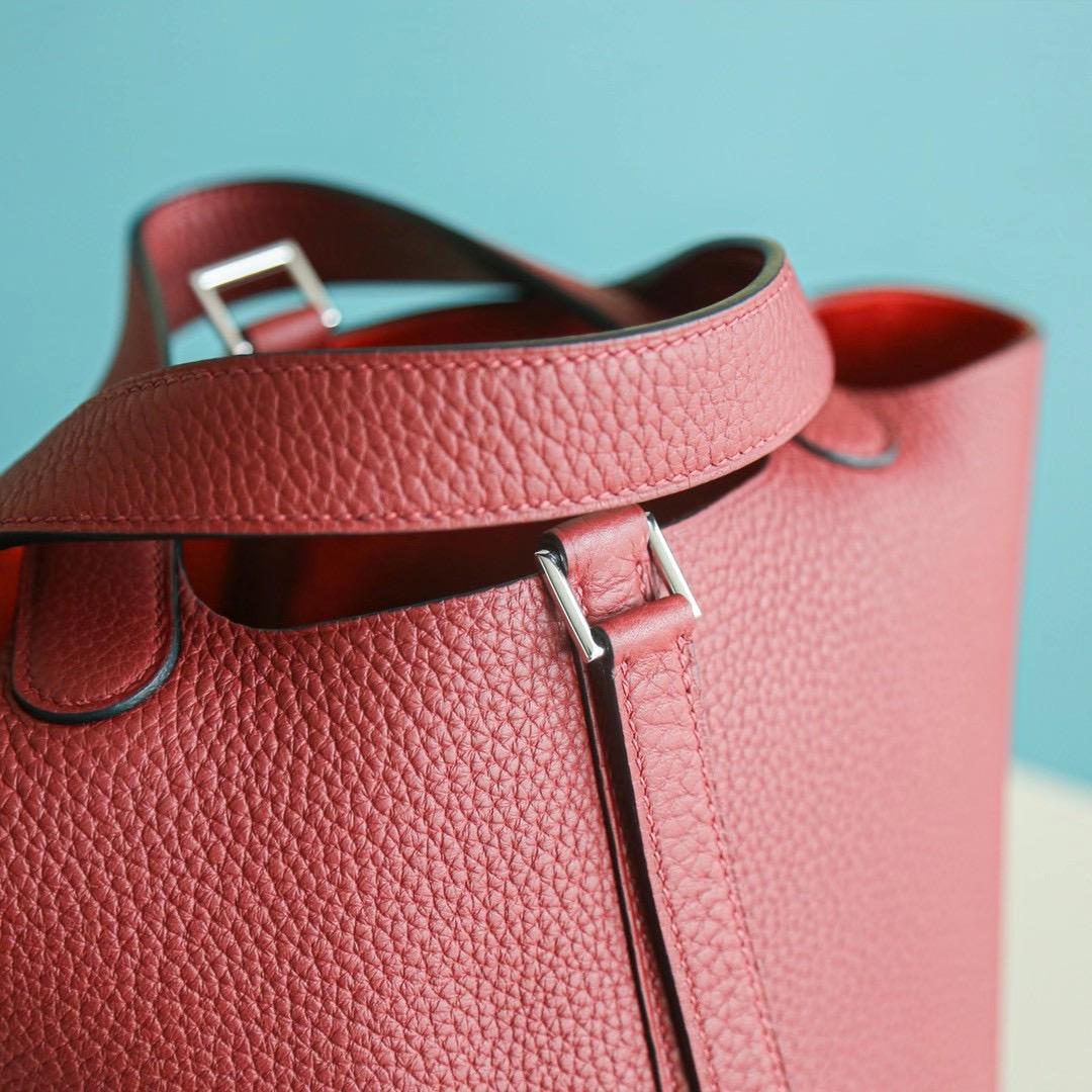 Hermes Picotin 18CM 石榴红 银扣 TC皮 优雅的暗红色