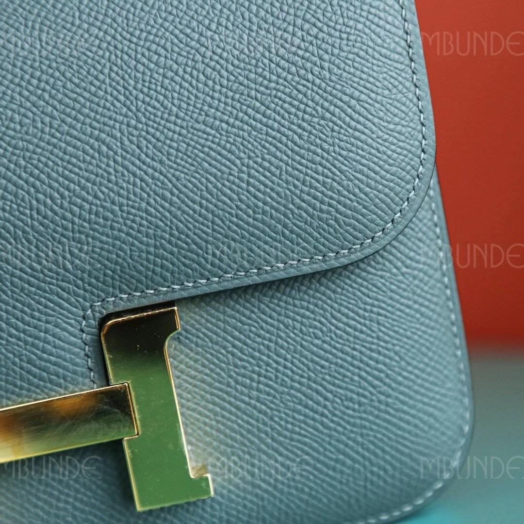 Hermes Constance CC63 杏绿色 Epsom 金扣  最火的莫兰迪色 性冷淡色
