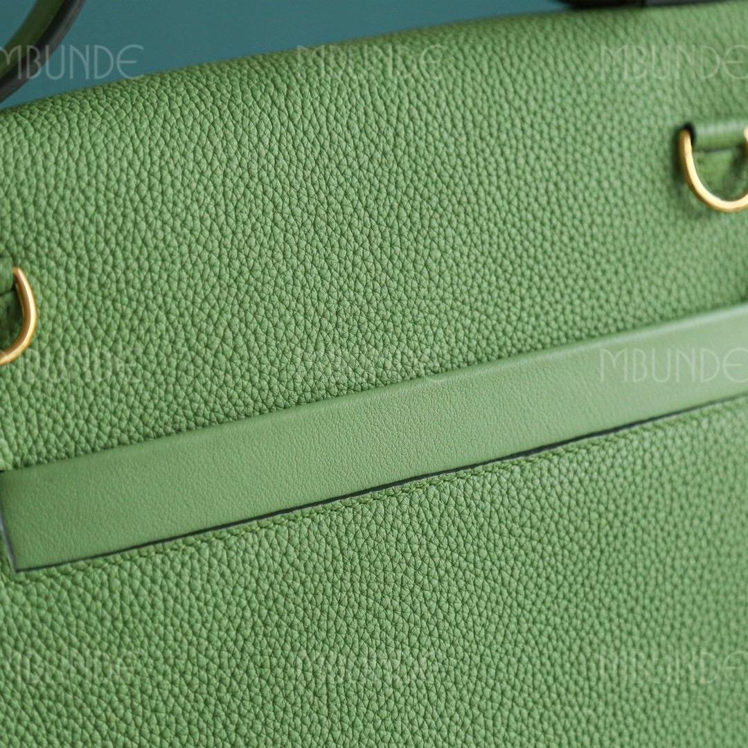 Hermes Kelly 24/24 29cm 牛油果绿 Togo皮 金扣