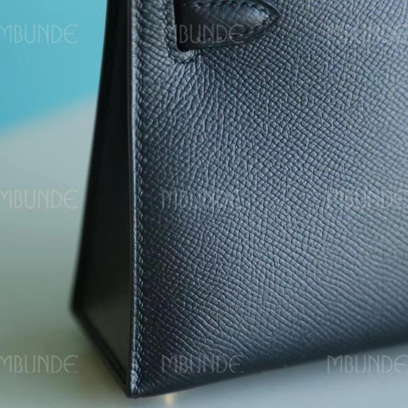 Hermes Mini Kelly 2代 Epsom 黑色金扣